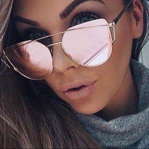 Accessories - Rose Gold Reflective Sunglasses